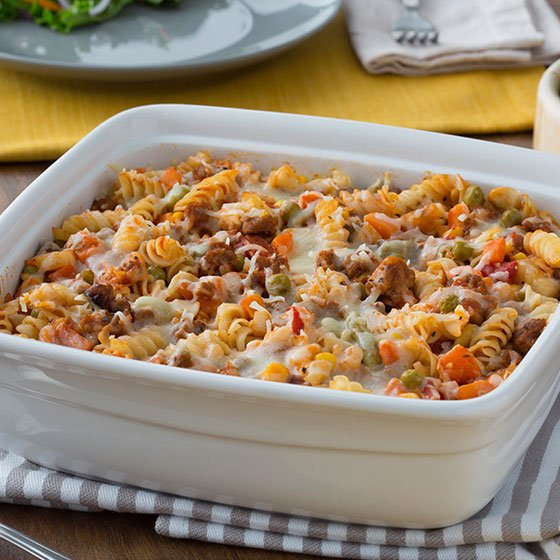 Italian Pasta Bake with Vegetables